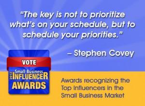 Stephen Covey quote priorities