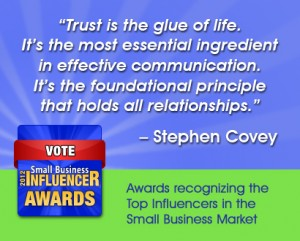 Stephen Covey small business wisdom on trust