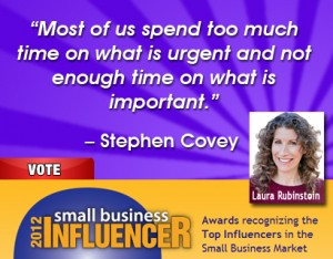 Stephen Covey Small Business Wisdom on Time Management