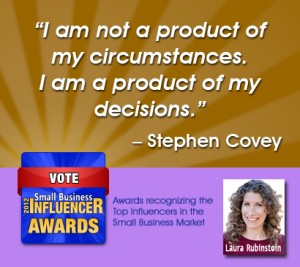Stephen Covey Business coaching on Decisions Laura Rubinstein Laura Rubenstein