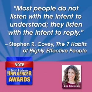 Stephen Covey Small Business Wisdom Listen